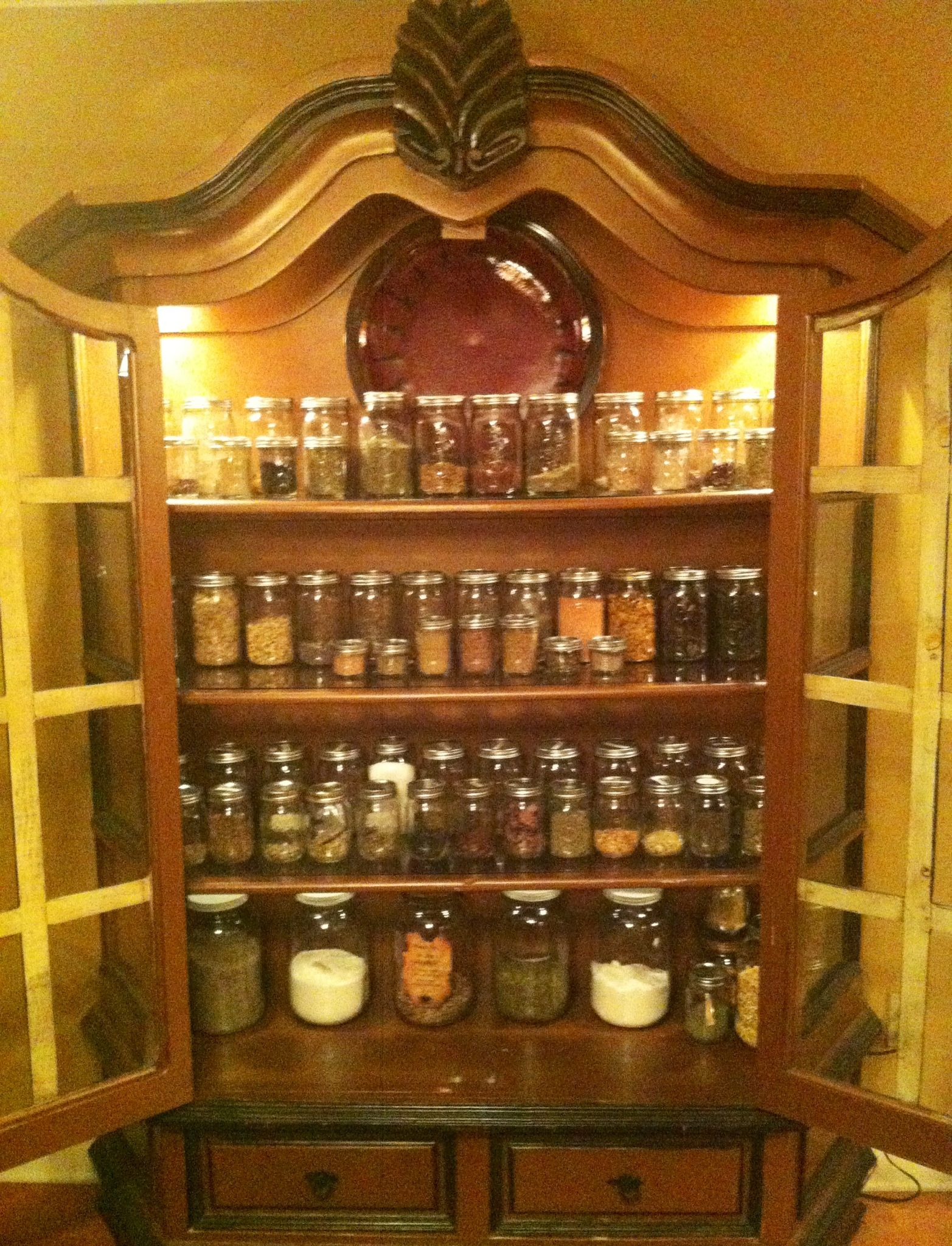 My Herbal Apothecary Cabinet Organized In Jars And All In