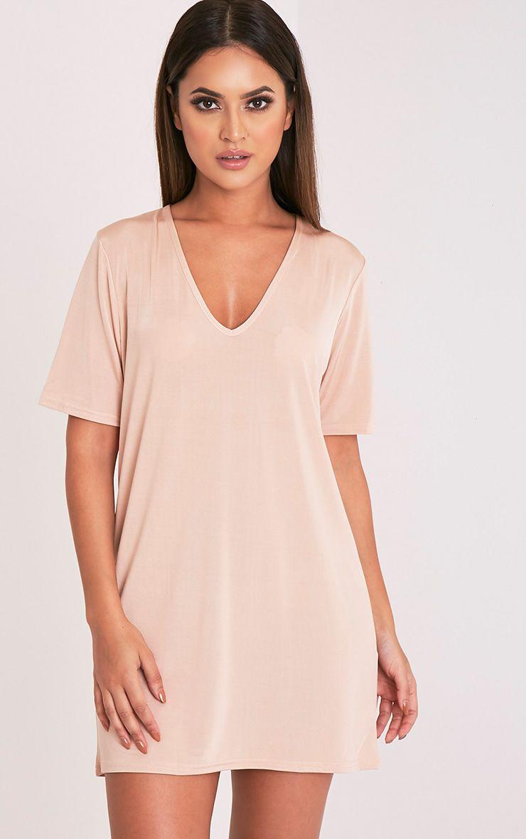 White t shirt mini dress