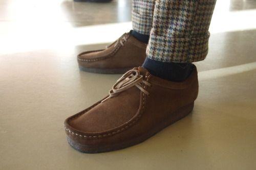 1aaa8b2af70 #Clarks Wallabees and tweed Desert Shoes, Tweed Men, Tweed Trousers, Wool  Tie