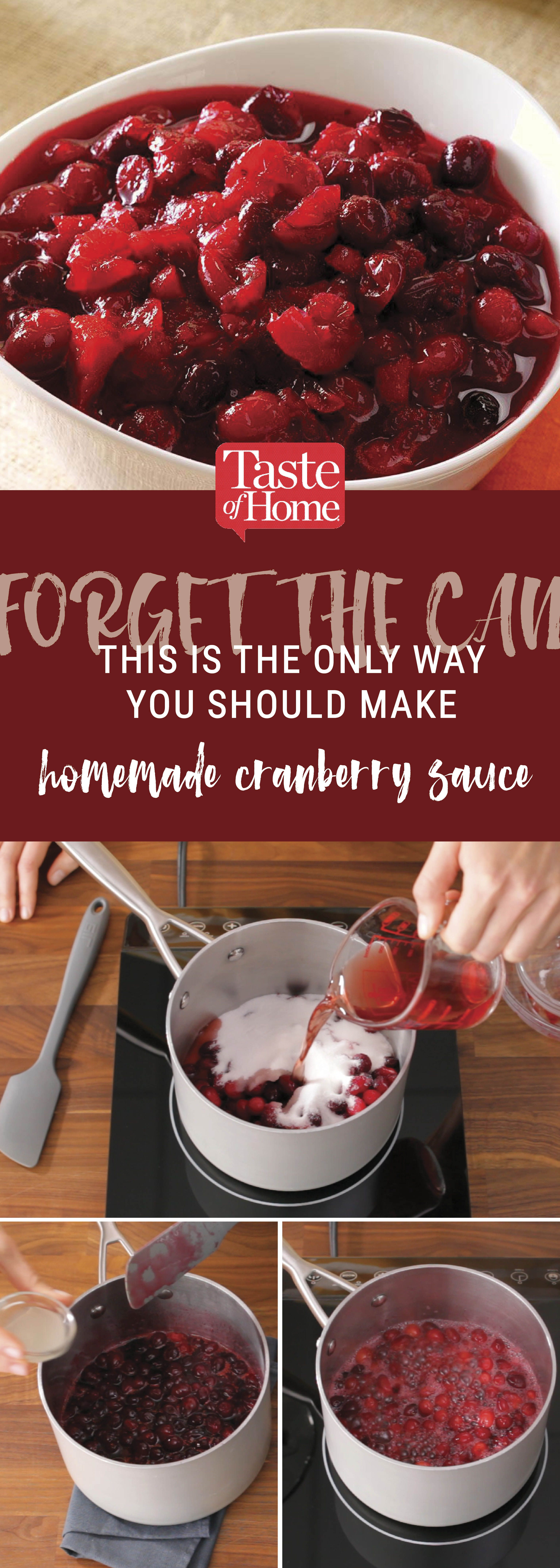 How to Make Cranberry Sauce the Old-Fashioned Way