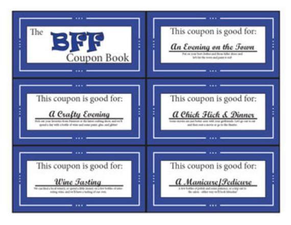 BFF | Bestie Coupon Book | Printable | Digital | S