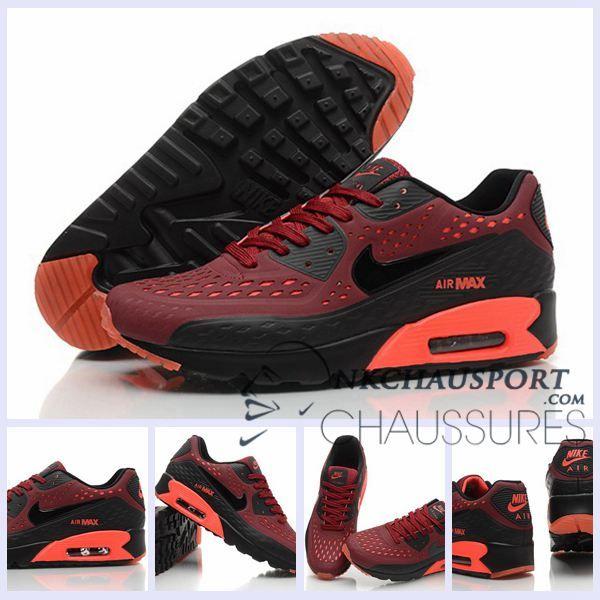 Nike Air Max 90 L'Été Meilleur Chaussures Running Homme Sombre