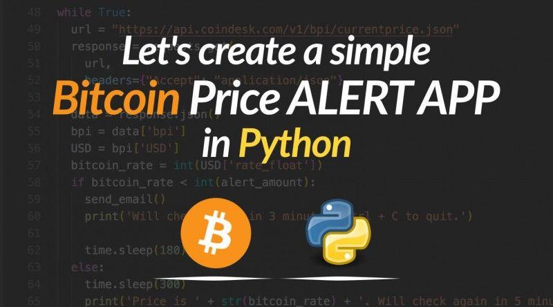 bitcoin price alert app python featured Bitcoin price