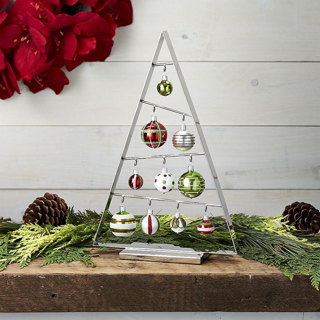 Ornament Trees | Crate and Barrel | Metal ornament tree ...