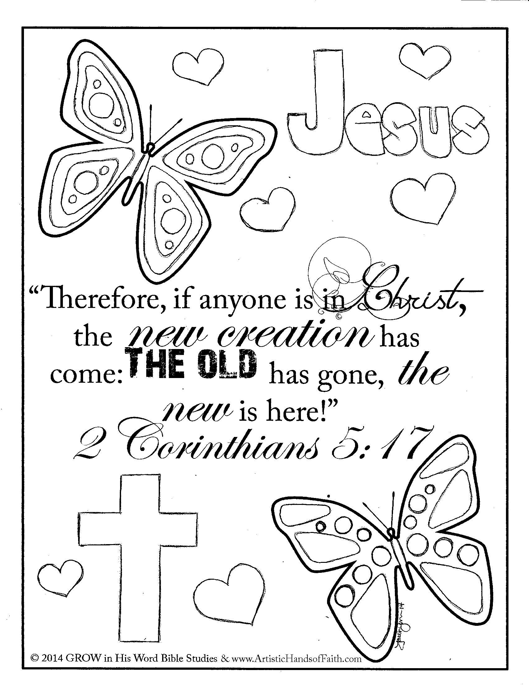 2 Corinthians 5 17 Coloring Page Bible Verse Coloring Bible