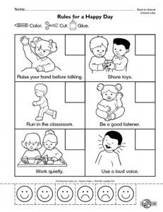 Back To School Worksheet For Kids Crafts And Worksheets For Preschool Toddler And Kinder Kindergarten Classroom Rules Classroom Rules Kindergarten Worksheets