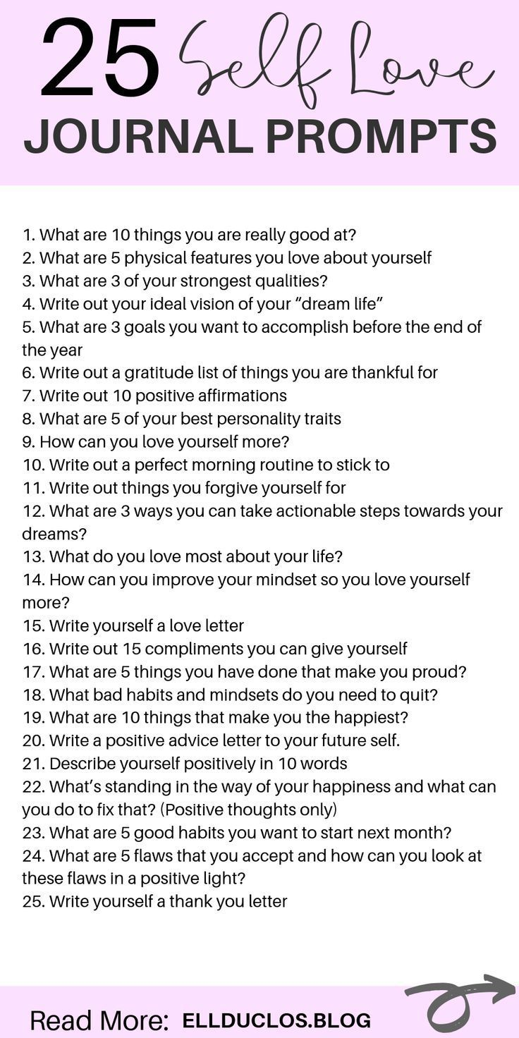 25 Journal Prompts for Self-Love and Confidence Bu