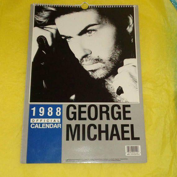 George Michael Danilo Official 1989 Calendar Music Memorabilia