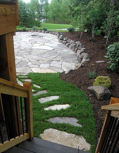 Exactly the deck to patio transition I am thinking of! Now ...