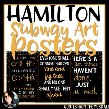 Hamilton Growth Mindset Posters Quotes From The Musical With