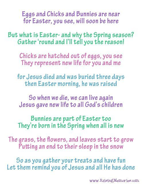 Free printable easter poem about the true meaning of easter and free printable easter poem about the true meaning of easter and easter symbols how can negle Choice Image