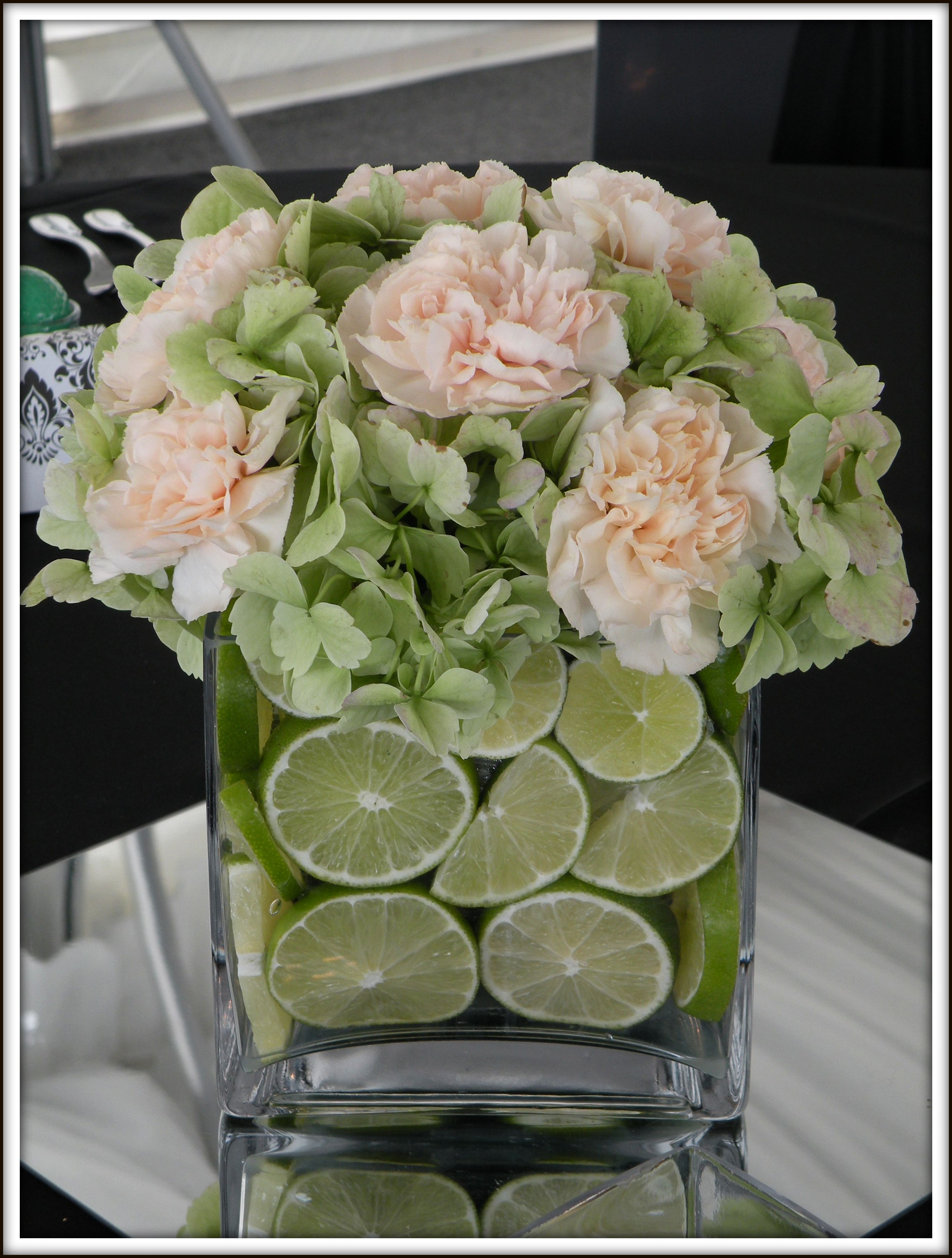 Green hydrangea centerpieces imgkid the image