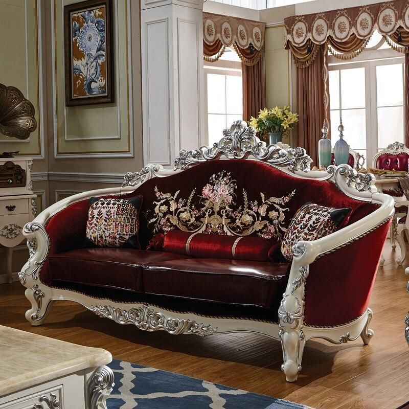Antique Sofa Set Solid Wood Carving Style Leather Sofa Set Brand Name Procare Appearance Modern Style Europe And America Material Genuine Leather Specif In 2020