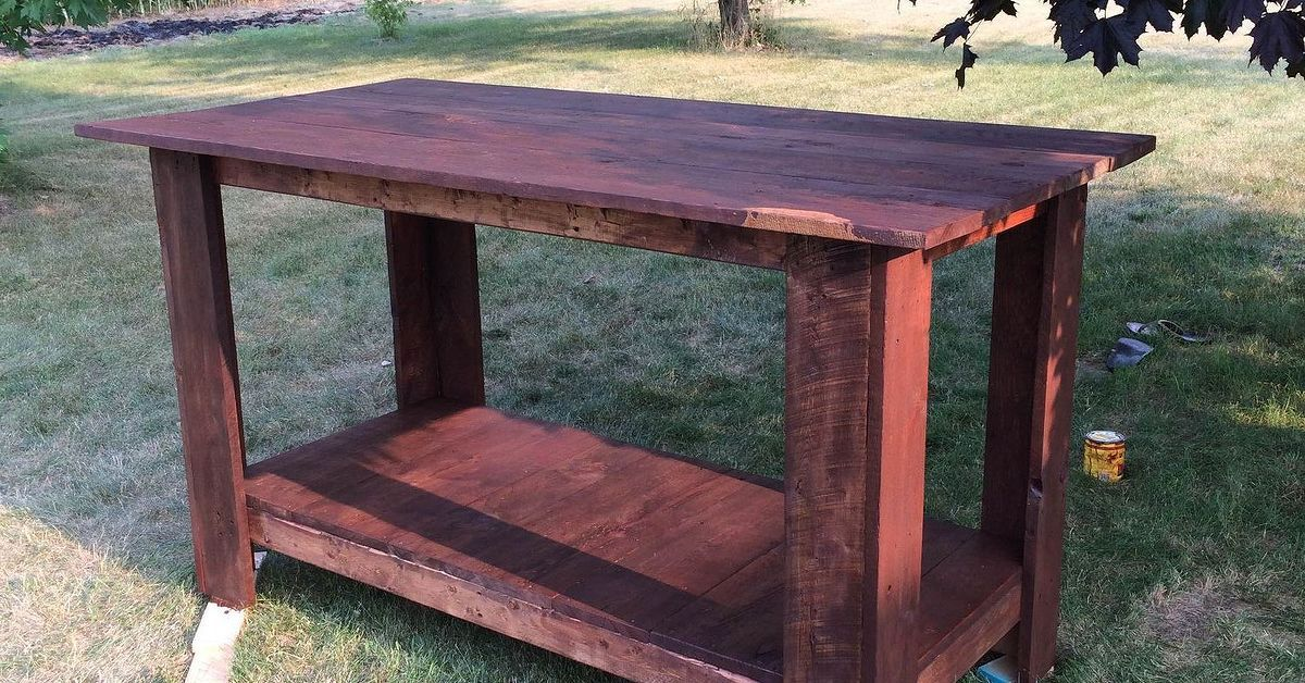 DIY kitchen island from barn wood Wood DIY Pallets,Shutter and