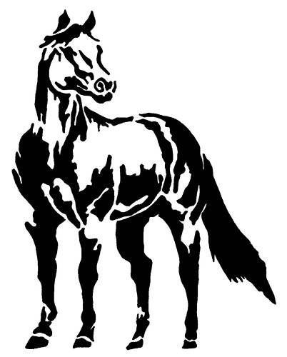 "horse sticker decal 4 car float tack ute 4x4 brand new tack 17"" Mustang horse sticker decal 4 car float tack ute 4x4 143"