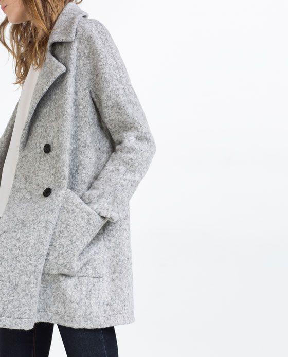 Zweireihiger ZaraGrauer Von 4 Mantel Wollmantel Bild Qdtrhs