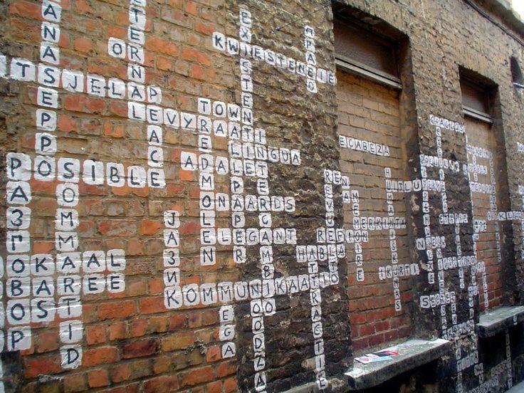 Crossword Street Art In Ghent Belgium Crosswords Pinterest Street Art Murals Street Art Ghent