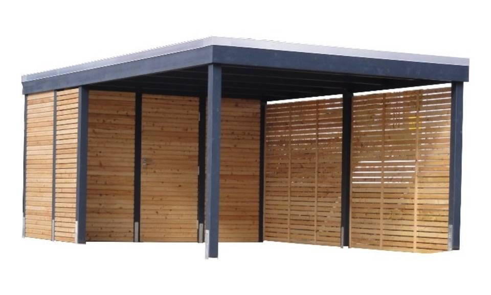 """Photo of Carport modern – """"Clear Line"""" fra Freese Holz"""