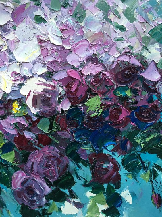 Framed Abstract Roses Flowers Painting Roses by AgostinoVeroni