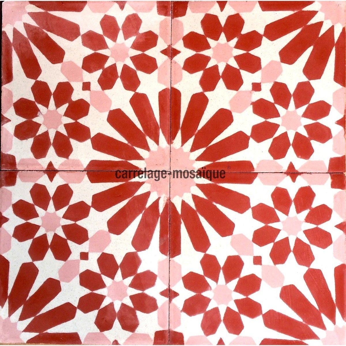 carreaux en ciment 1m2 pas cher modele anso rouge. Black Bedroom Furniture Sets. Home Design Ideas