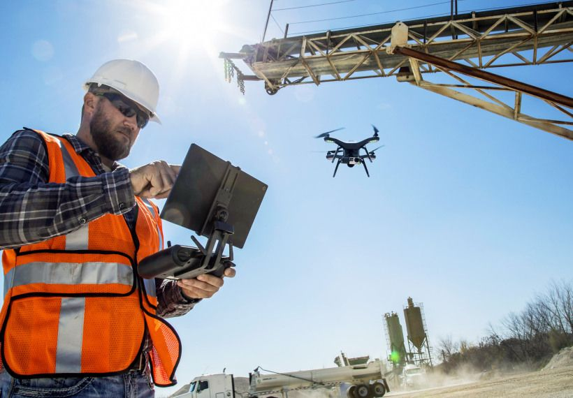 The Construction Industry Is In Love With Drones Drone Drone Technology Construction