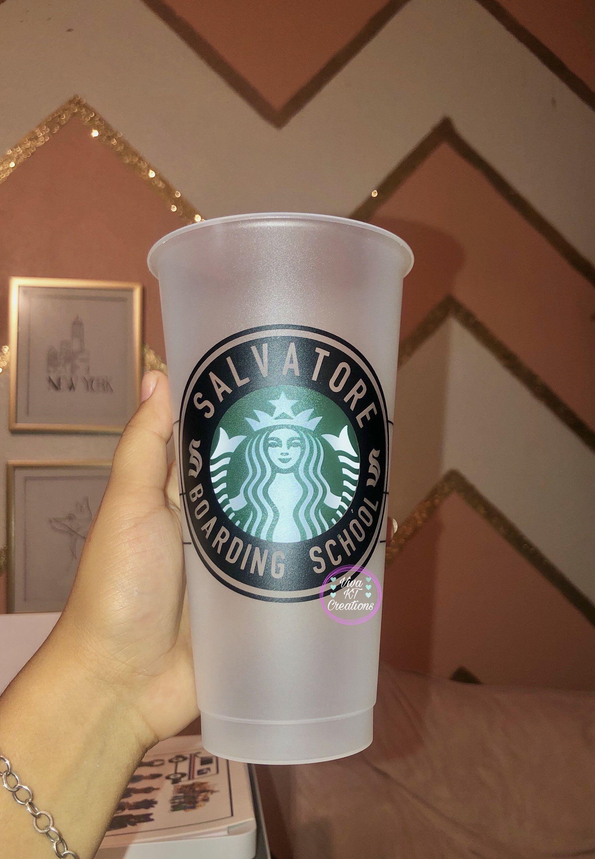 Salvatore Boardin School Starbucks Cup Personalized Stabucks Cup Vampire Diaries Cup Legacies The Originals Star Starbucks Cups Personalized Cups Starbucks
