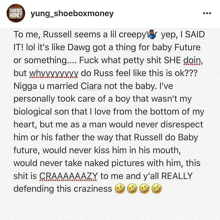 I couldn't have said it better. Russell you should know better than this.  #realtalk #truth #realshit #truestory #facts #true #life #lol #quotes #quote #rns #niggasbelike #real #quoteoftheday #fact #relationships #sotrue #trueshit #justsaying #foodforthought #straightup #preach #ciarawilson #russellwilson #ciara  #blackpeople #blackmen #black #wakeup #blacklove