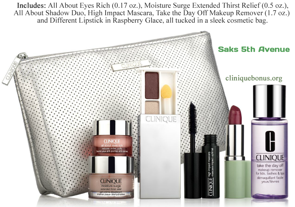 Another Clinique bonus time in United States in September/October 2013 - At the Saks fifth avenue. http://cliniquebonus.org/clinique-bonus-time/