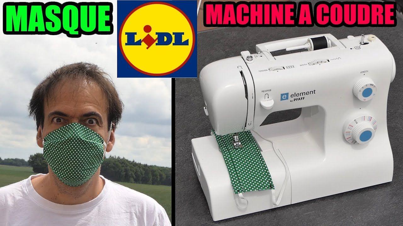 Masque en tissu Machine à coudre LIDL PFAFF 1070S + documentation AFNOR