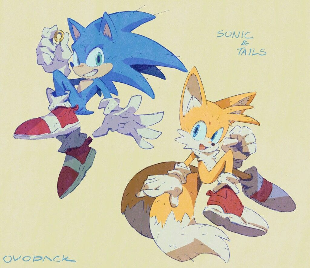 Movie Sonic And Tails Hedgehog Art Sonic The Hedgehog Sonic
