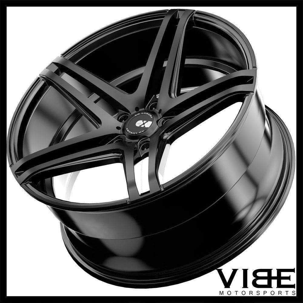 22 Xo Caracas 22x10 5 Black Concave Wheels Rims Fits Jeep Grand