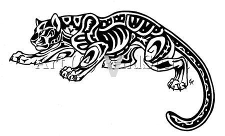 Aztec Jaguar Tattoo Mayan Tattoos Jaguar Tattoo Aztec Tribal Tattoos