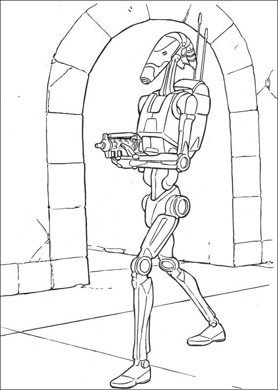 Star Wars Målarbilder för barn. Teckningar online till skriv ut. Nº ...