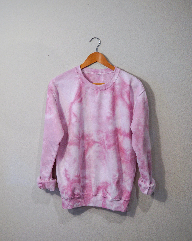 Pink Tie Dye Crewneck Sweatshirt Etsy Tie Dye Crewneck Sweatshirts Crew Neck Sweatshirt Pink Tie Dye [ 3000 x 2400 Pixel ]