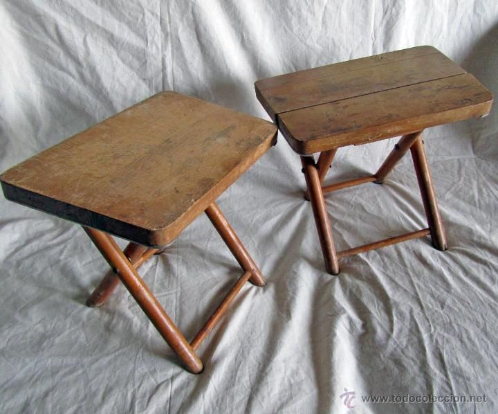 2 antiguas sillas plegables de madera foto 1 cadires pinterest antigua - Sillas de madera antiguas ...