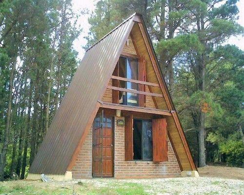 Arquitectura triangular planos peque as caba as buscar for Cabanas de madera pequenas