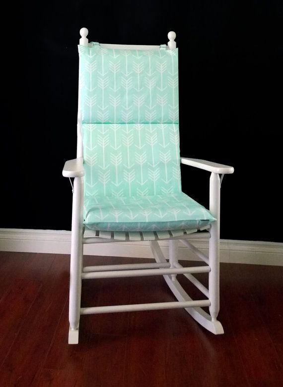 Pleasant Rocking Chair Cushion Cover Mint Arrow By Rockincushions On Unemploymentrelief Wooden Chair Designs For Living Room Unemploymentrelieforg