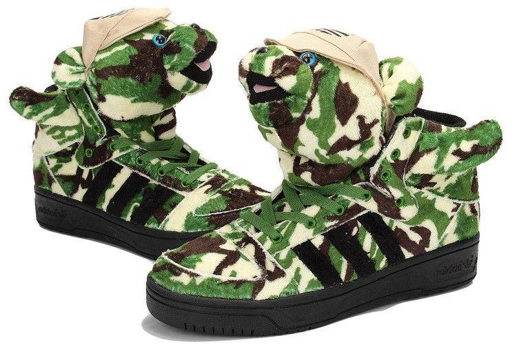 buy popular 6d604 1f221 Baskets Adidas Originals Jeremy Scott bear Panda - Camouflage