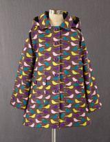 Mini Rainy Day Coat (Coffee Birds) #boden #magicalmenagerie