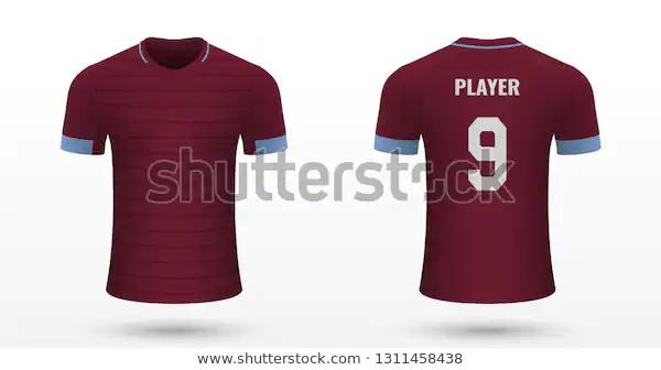 Realistic Soccer Shirt West Ham Jersey Stock Vector Royalty Free 1311458438 Spor