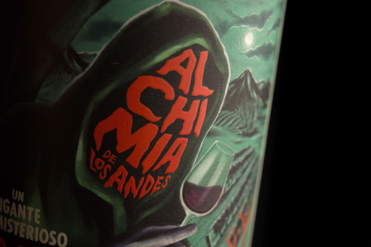 This Wine Packaging Takes Inspiration From A Vintage Horror Movie Poster Wine Packaging Wine Packaging Design Packaging Design Inspiration