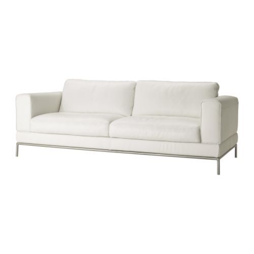 sofa candidate no arild also from ikea white leather and steel frame we have this one in black itu0027s great can take back cushions off and itu0027s a great