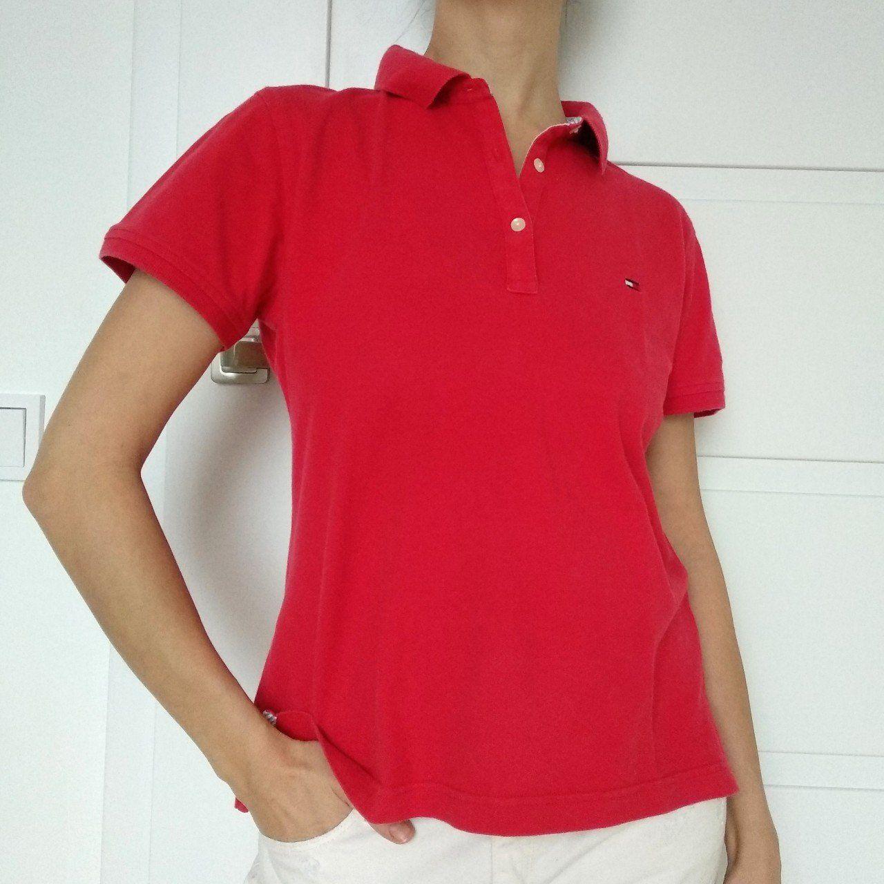 5f8b1d9c Red Tommy Hilfiger polo t-shirt #depop #vintage #tommyhilfiger #poloshirt