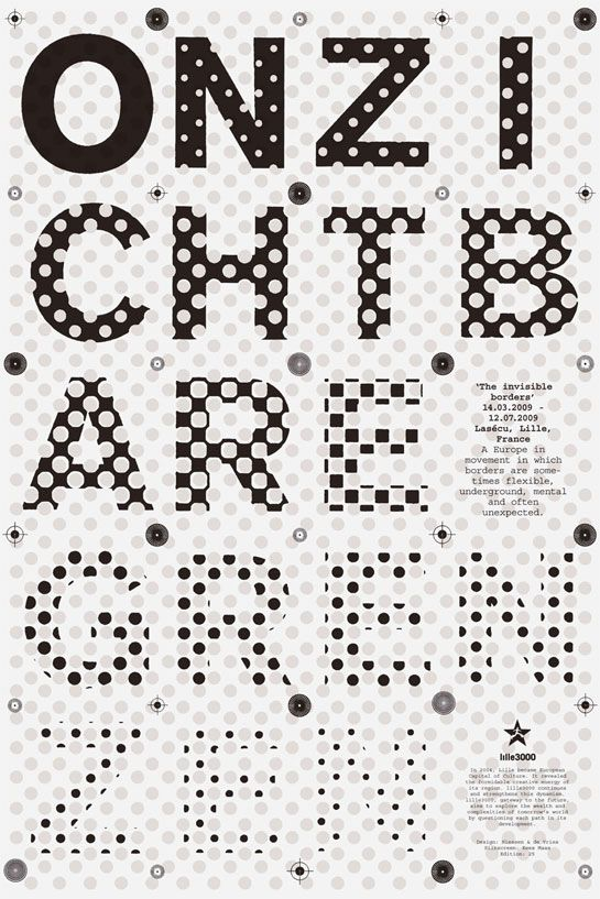I Love The Optical Illusion This Creates Typographic Poster Typography Design Typography
