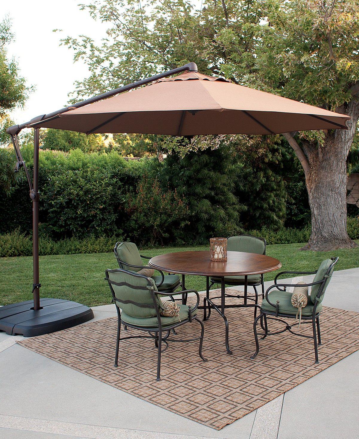 Treasure Garden 10 Cantilever Umbrella Reviews Furniture Macy S In 2020 Patio Cantilever Umbrella Offset Patio Umbrella