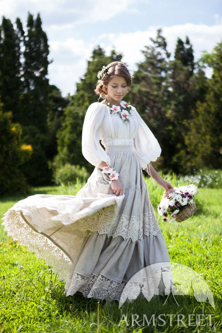 Medieval Linen Underskirt Snow White Photography In