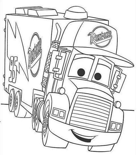 Mater Car Disney Pixar Monster Truck Coloring Pages Coloring Books