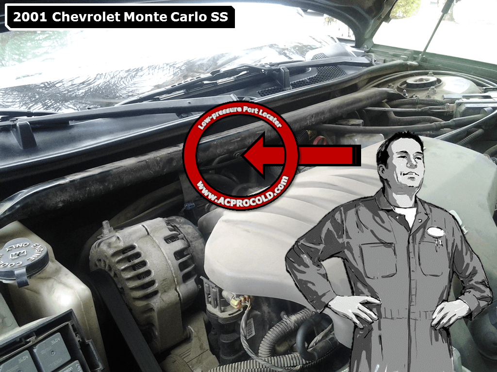 Chevrolet Monte Carlo - Low Side Port for A/C Recharge