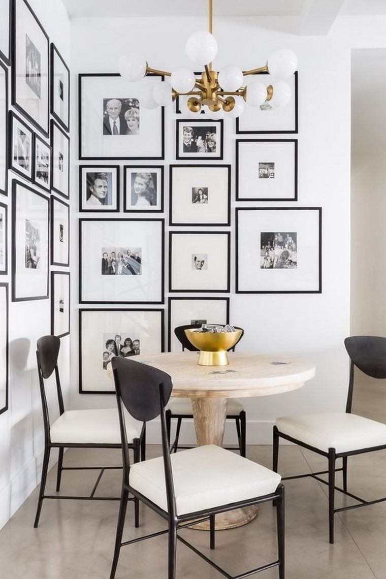 Dining room with gallery wall photo gallery walls dining nook and