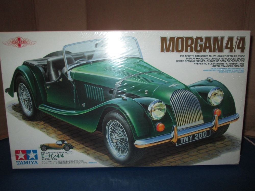 Tamiya Morgan 4 Model Kit 24170 Sealed 1 24 Scale 1996